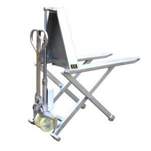 Vysokozdvižný nožnicový paletový vozík s rámom z nehrdzavejúcej ocele HSG540M