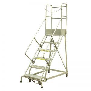 Rolovacie rebríky z priemyselnej ocele RLC354